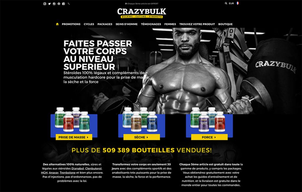 Site officiel de CrazyBulk Franc