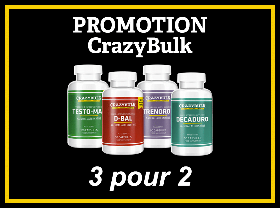 Promotion CrazyBulk 3 produits pour le prix de 2