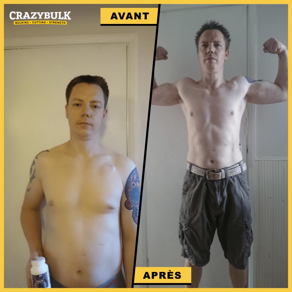 Résultats avant et après de Crazy Bulk